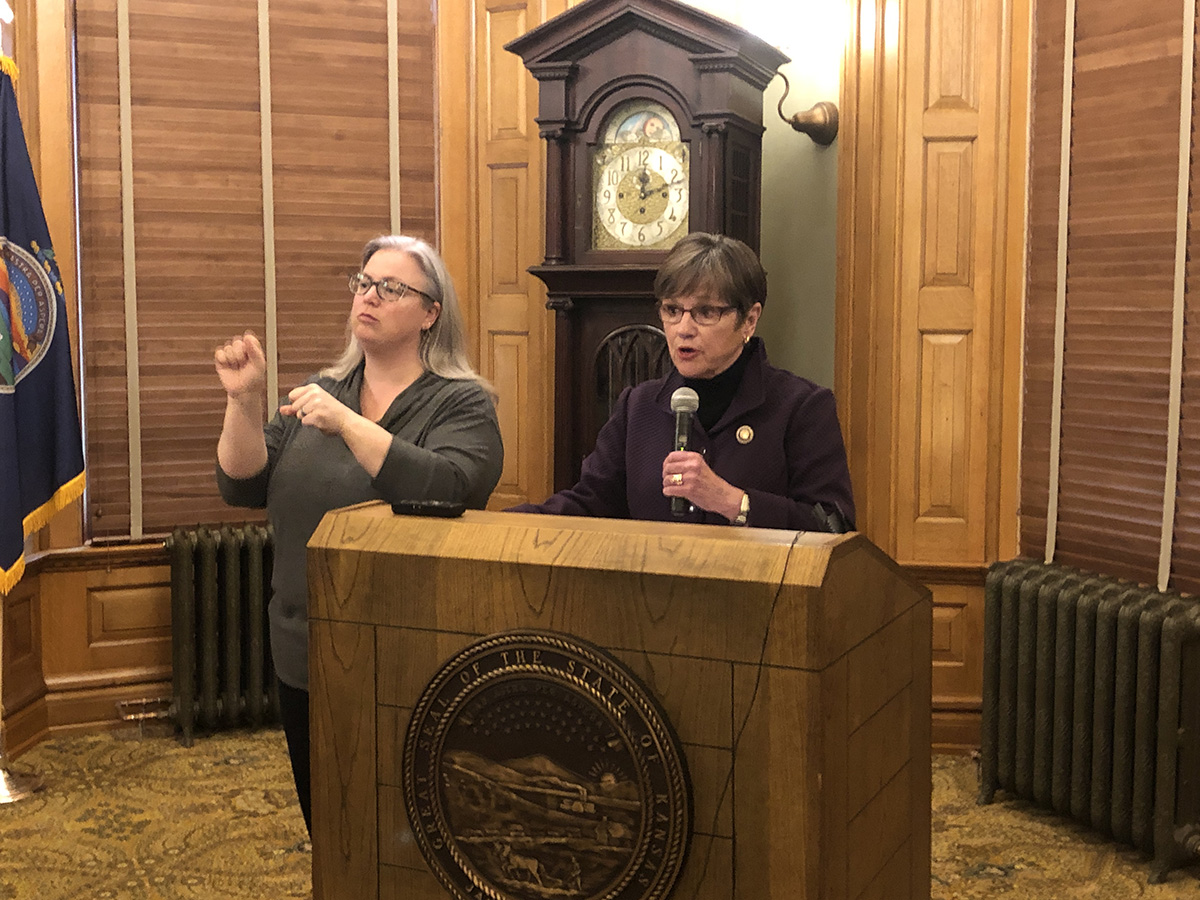 Gov Laura Kelly talks about schools and COVID-19.