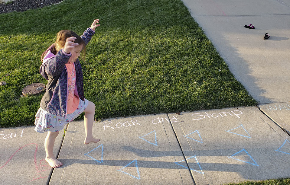 Hopscotch in Lenexa Hills during COVID-19