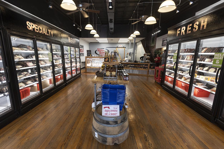 Interior of Walnut Valley Meat Market