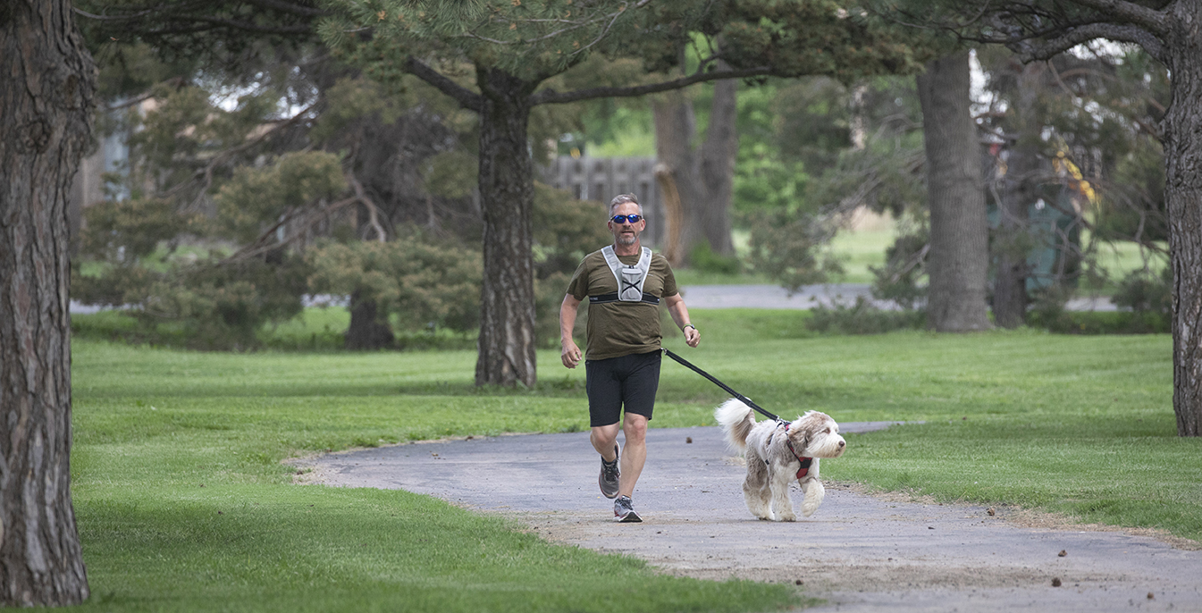 Troy Unruh, pictured running, ran for city commission in Garden City because of his citizen's academy experience